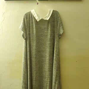 Collar grey dress